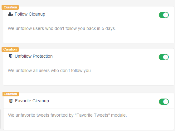 Модули Follow Cleanup и Unfollow Protection