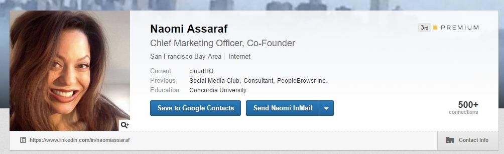 Сохраните контакт из LinkedIn в Google Контакты