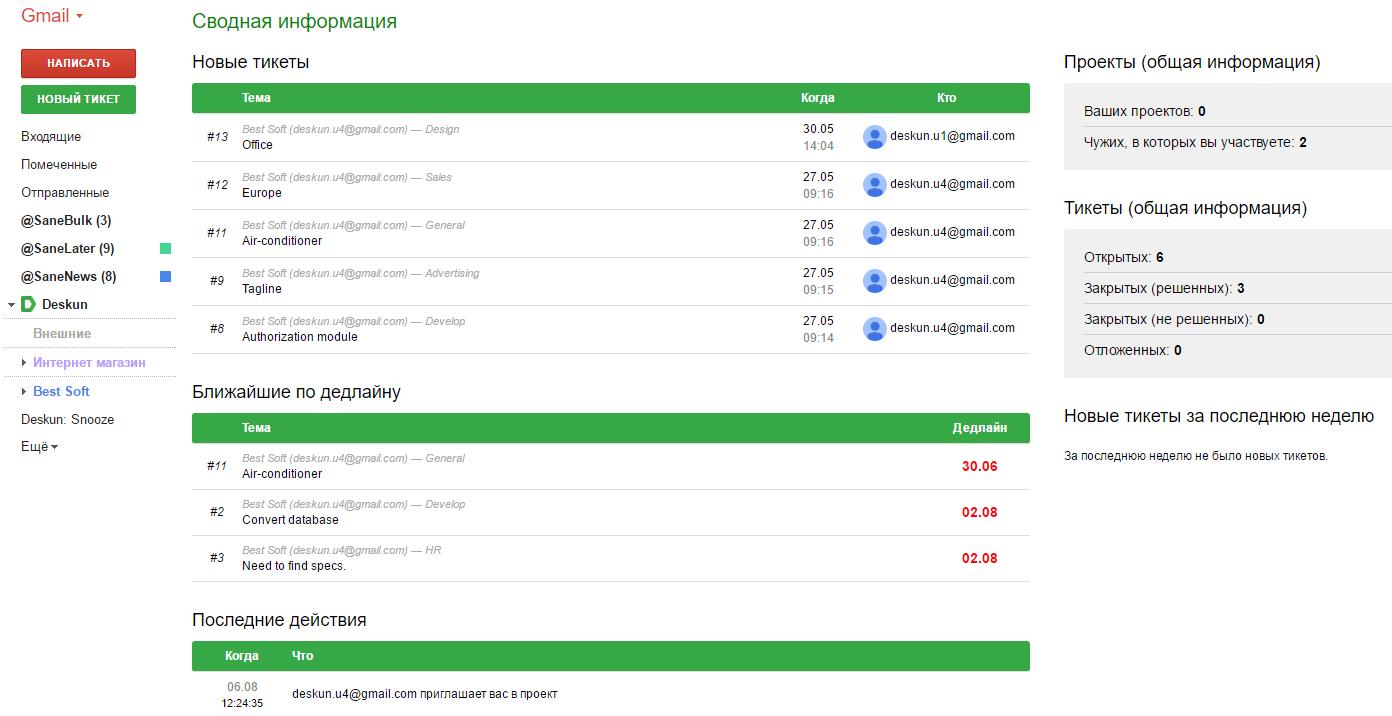 Система управления задачами в Gmail