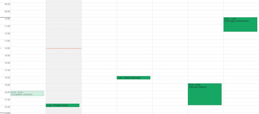 Задачи из Nozbe в Google Календарь