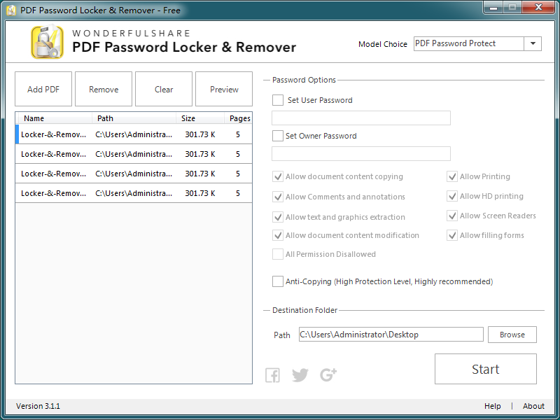 PDF Password Locker & Remover