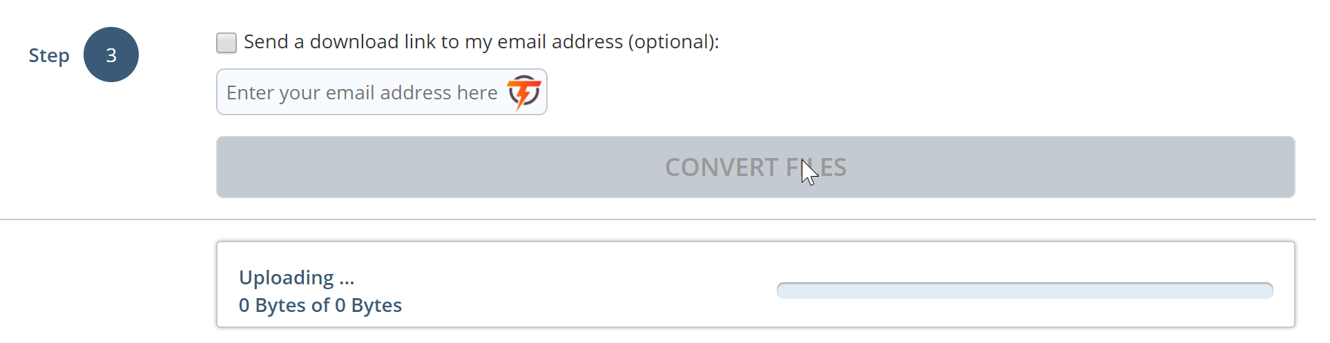 Процесс конвертации файлов