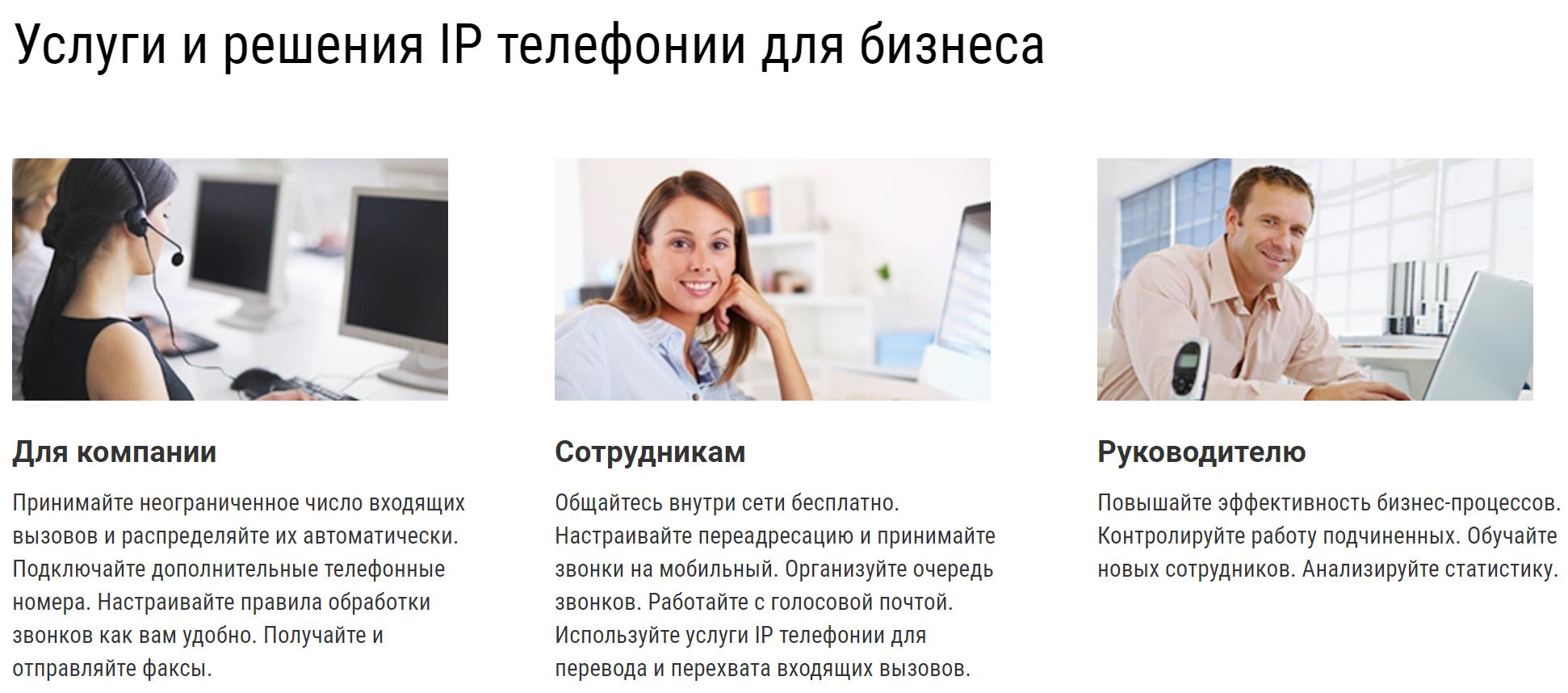 Услуги и решения IP телефонии для бизнеса