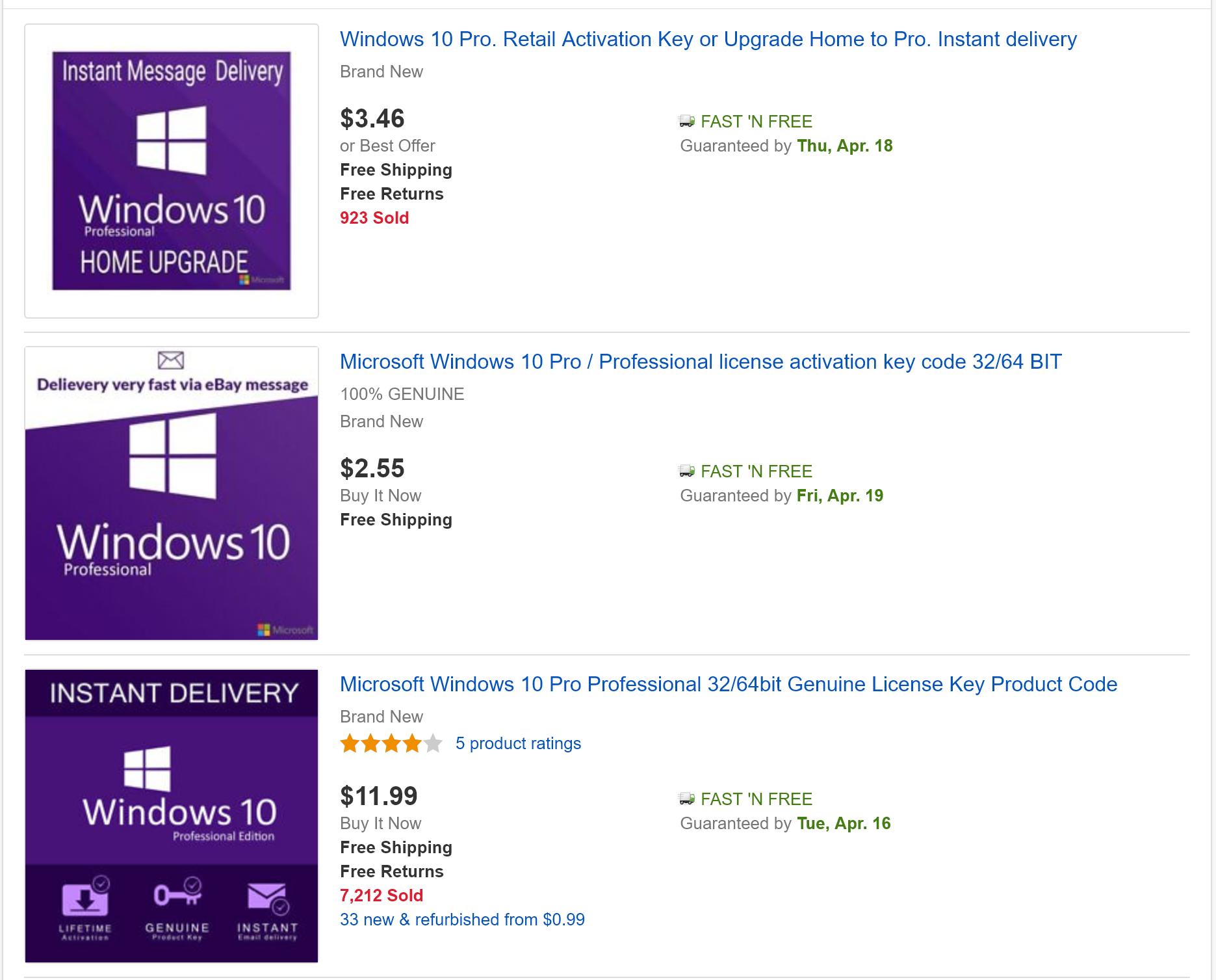 Дешёвый ключ для Windows 10 — это легально?