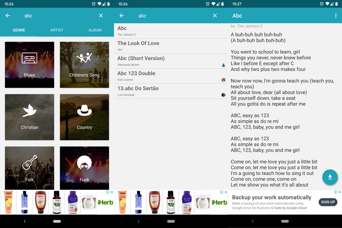 Lyrics Library for Android
