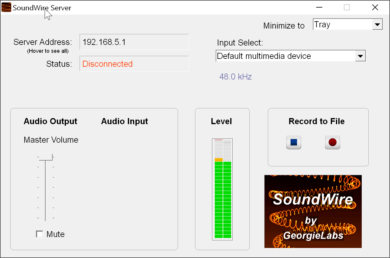 SoundWire for Windows