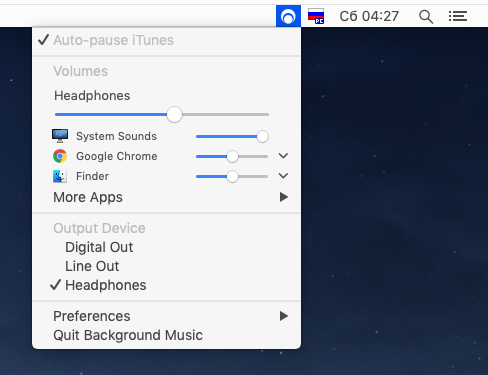 Background Music на MacOS