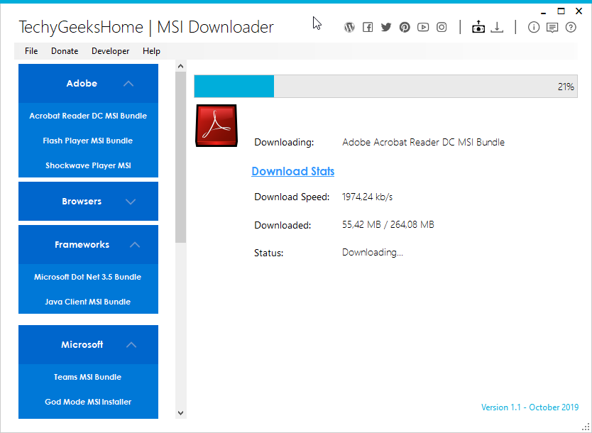 MSI Downloader