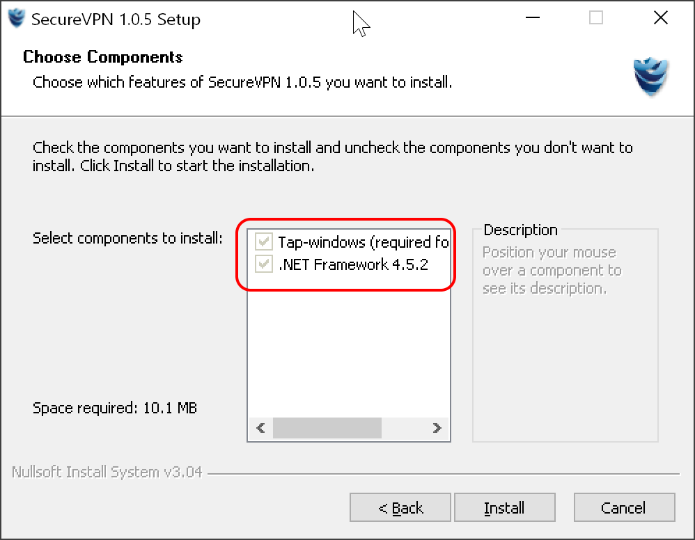 Установка SecureVPN на Windows 10