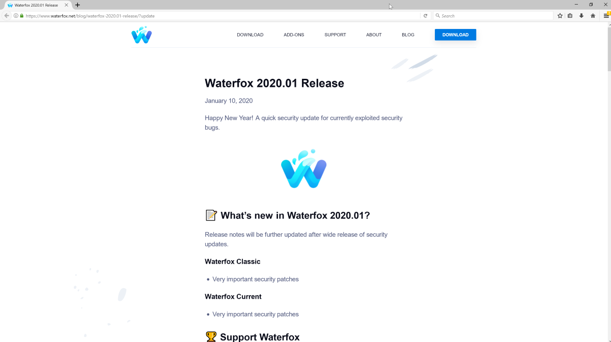 Waterfox браузер