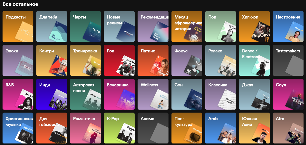 Плейлисты Spotify
