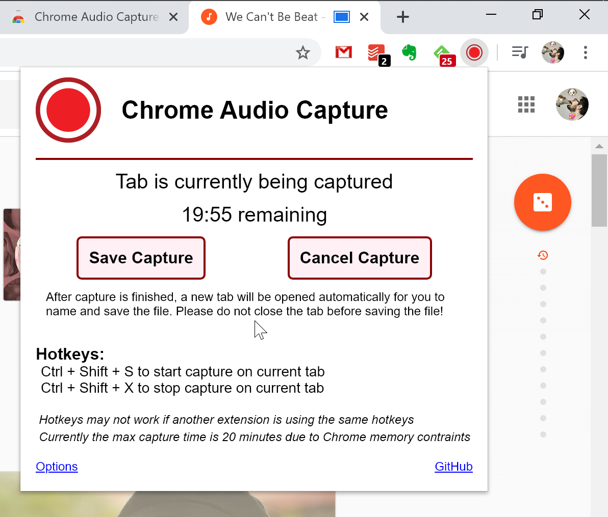 Record Chrome Tab Sound