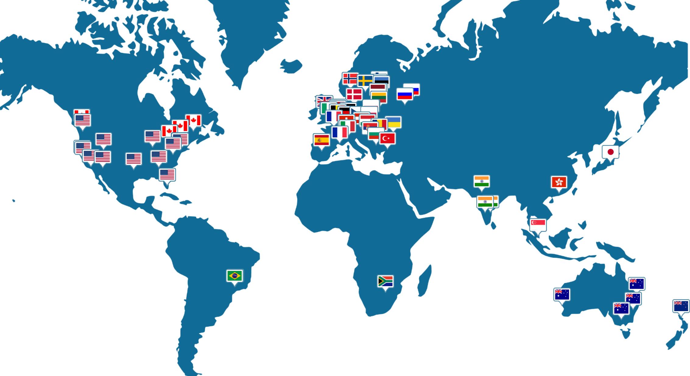 Карта серверов Trust.Zone