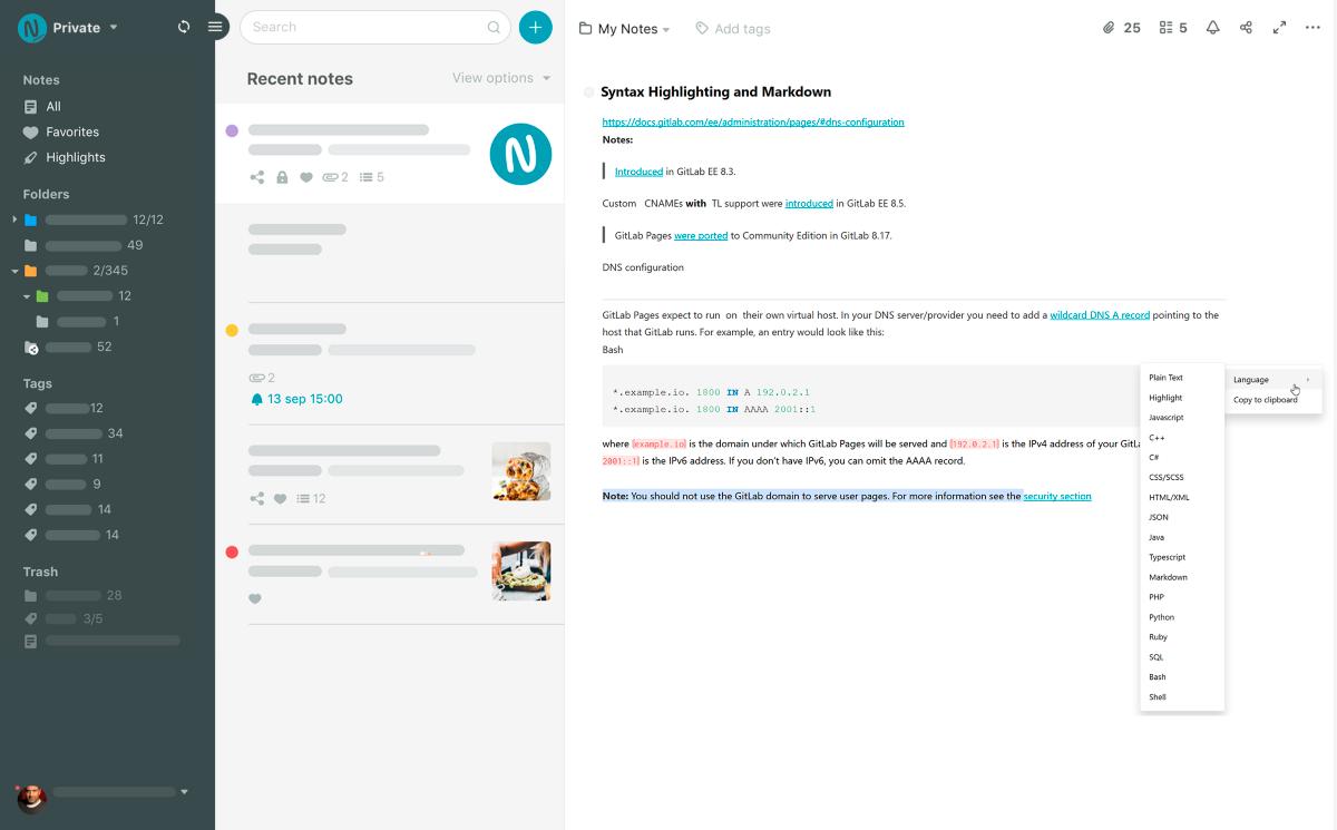 Обзор Nimbus Note. Удобный кроссплатформенный сервис заметок