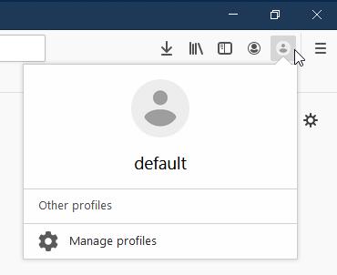 Как добавить удобное переключение профилей в Firefox