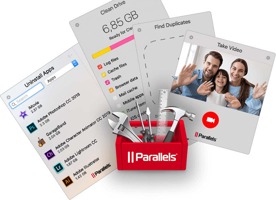Обзор Parallels Toolbox. Набор полезных инструментов для ПК