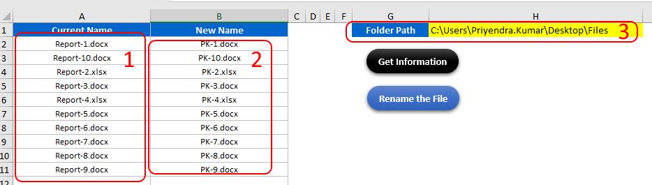 Как переименовать файлы согласно таблице MS Excel